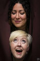 Playful Faces (lycheng99) Tags: faces playful women friends curtain laugh happy eyes fun people portrait closeup