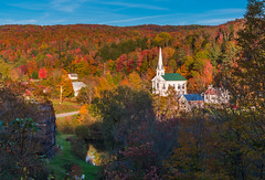 SOUTH WOODBURY VERMONT (jlucierphoto) Tags: village church autumn fall vermont southwoodbury pond road outdoor steeple foliage lovelyflickr nikon 35mm f18 nikkor
