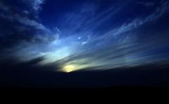 Levels (Laineyb93) Tags: sun set sky clouds nikon photoshop elements levels bluesky