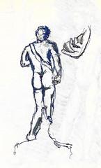 David de espalda (Andrs Goi :: www.andresgoni.cl) Tags: sketch croquis dibujo arquitectura lapiz mano handwrite architecture europa inglaterra england london train tren italy italia florencia firenze sienna