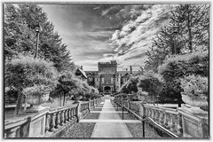 The Castle (mary-lee.) Tags: university museum old military castle history colwood britishcolumbia vancouverisland blackandwhite naturephotography