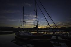 Sunset Sails (longreach) Tags: tasmania australia strahan boat water sunset sail