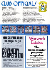 Coventry City vs Tottenham Hotspur - 1979 - Page 23 (The Sky Strikers) Tags: coventry city tottenham hotspur spurs hotspurs football league division one sky blue highfield road official matchday magazine 20p