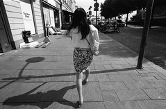 Street scenes (Helsinki Drifter) Tags: urbanlife streetscene girl walking citycentre candid capture streetphotography blackandwhite film rolleifilm rpx100 pushprocess selfdeveloped ei400 tones contrast feeling motion perspective hesinki europe
