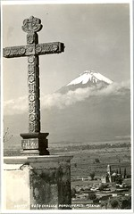 Mexican Photo Postcard Brehme (Teyacapan) Tags: photographs postcards hugobrehme mexican mexico volcano popo mountains cruz cross scenery vintage