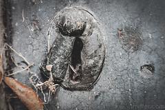 Keyhole to the other side (#Weybridge Photographer) Tags: adobe lightroom canon eos dslr slr 40d brompton cemetery west london kensington graveyard autumn key keyhole lock tomb crypt