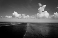 low tide (samirart) Tags: sea water beach view travel blackandwhite bw photography clouds sky endless beautiful nature photo pretty