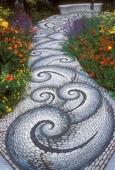 River Rocks Mosaic Path (irecyclart) Tags: garden mosaic path rock