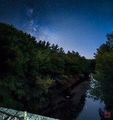 View From the Bridge (Mitymous) Tags: bridge fall2016 longexposure night stars stonebridge zeiss21