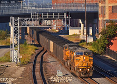Eastbound Coal Train in Kansas City, MO (Grant G.) Tags: up union pacific railroad railway east eastbound loaded coal train trains kansas city missouri
