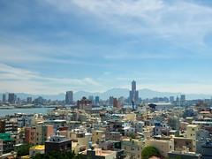 Overlooking (Ted Tsang) Tags: olympus em1 1240mmf28 cityscape skyline landscape taiwan kaohsiung clouds sky sea mountain harbor bay qijin cihou   85skytower 85