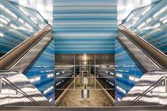 Bright Underground (Explore #11) (Fabian F_) Tags: bright underground subway station tram hamburg germany deutschland nordsee rolltreppe futuristic ubahn morning