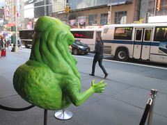 42nd Street Wax Slimer 2016 NYC 6169 (Brechtbug) Tags: 42nd street wax slimer 2016 nyc 10062016 new york city green ghost from ghostbusters film museum midtown manhattan sidewalk spooks spook movie creature halloween decoration decor spooky madame tussauds waxworks waxwork museums art sculpture statue special effect effects