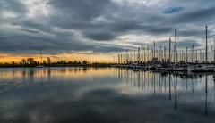 Calm before the storm (Yewbert The Omnipotent) Tags: toronto canada lightroom sky colourful colour nikon d750 landscape water lake boats clouds