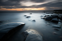 Hammar sydspets 2016-07-11 (- David Olsson -) Tags: takene hammar hammarsydspets vrmland sweden lake vnern water stones rocks stenar vatten seascape landscape lakescape nature outdoor cloudy clouds sunset sundown smoothwater le longexposure leefilters bigstopper lenr ndfilter blackglass 06hard gnd grad nikon d800 1635 1635mm 1635vr vr fx davidolsson 2016 july juli sommar summer