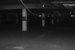 Abandoned (BITS_flux) Tags: urbanexploration urbex hamburg harburg parking lot architecture void emptiness blackandwhite