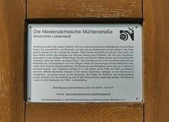 Mhle in Lbberstedt, Infotafel (antje whv) Tags: mhleninniedersachsen windmhlen windmill mhlen mills molen