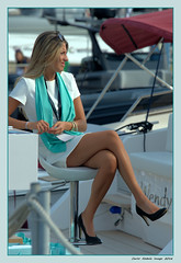 Stylish woman (cienne45) Tags: elegance finesse woman boat boatshow charm glamour youngwoman stylish chic pretty nice charming graceful gracious pleasant