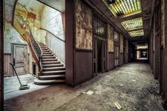 Dark corridor (Yann PESIN) Tags: urbex urban urbexing exploration decay oblivion path urbaine oubli ruine abandoned places exploring
