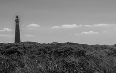 Schiermonikoog Lighthouse (isobrown) Tags: horizon noiretblanc monochrome lighthouse island nederland frise netherlands