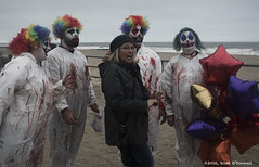 Clown Posse (scottnj) Tags: zombie zombiewalk asburypark 2016zombiewalk scottnj halloween scary makeup zombiemakeup scottodonnellphotography zombiephotos zombiewalkasburypark ninthannualzombiewalk 9thannualzombiewalk