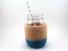 Felted mason jar cozy (Ruth & Hazel) Tags: wool felt felted fulled masonjar cozy cover sleeve handmade ruthandhazel ruthhazel