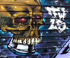(Noem pl.) Tags: graffiti arte urbano arteurbano calavera oscuro