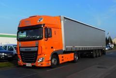 "DAF XF euro6 460 Semi-Remorque Tautliner ""PENEMAT"" (BG) (xavnco2) Tags: longueau somme picardie france camion truck trucks lorry autocarro lkw semiremorque semitrailer tautliner curtainside daf xf euro6 460 orange"