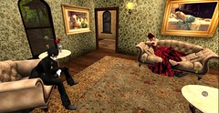 """""""I think you have had enough M'Lady.."""" (Allie Carpathia) Tags: victorian brothel drunk butler witch absinthe roleplay autumn friends darkradiance secondlife"""