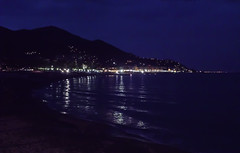 Plakias seaside by night