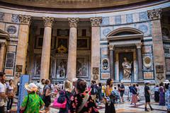 Rome - Pantheon Statue Niches 6 (Le Monde1) Tags: italy rome city eternal lemonde1 nikon d610 vatican capitoline palatine tiber river roma stpeters sevenhills capital romancatholic pantheon statue niches inri ignenaturarenovaturintegra