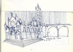 Catedral de Sienna (Andrs Goi :: www.andresgoni.cl) Tags: sketch croquis dibujo arquitectura lapiz mano handwrite architecture europa inglaterra england london train tren italy italia florencia firenze sienna