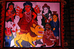 Roof theme-I (Biswajit Das Kunst) Tags: durgapuja2016 bengal festival calcutta nikond40 india nationalgeography discovery sculpture art catchycolor potchitra theme folkart durga