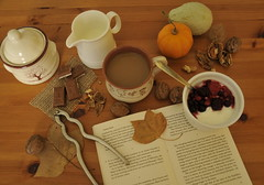 ...october.saturday.morning... (ristina) Tags: autumn october breakfast morning serenity coffee nuts chocolate book
