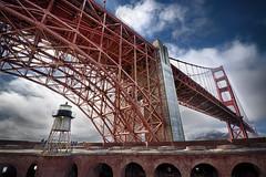 The Golden Gate Bridge from Fort Point (alouest225) Tags: pont bridge pacific pacifique goldengate sanfrancisco nikon d750 usa unitedstates etatsunis paysage landscape california alouest225 thegoldenstate architecture fortpoint red nikon1635 hdr