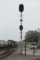 CEFX 1053 (CC 8039) Tags: cefx ice dme milw cp trains ac44cw signal savanna illinois