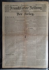 Frankfurter Zeitung 3 August 1914 First Morning Edition (fron