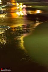 Walk by the Sea (Masahiko Futami) Tags: sea reflection nature japan canon landscape photo sand asia shoot photographer illumination photograph  moonlight             eos5dmarkiii