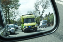 LAS 7684 (kenjonbro) Tags: uk england traffic rearviewmirror mercedesbenz emergency wingmirror londonambulanceservice 7684 brownhillroad worldcars sptinter kenjonbro lj09omg fujifilmfinepixhs50exr
