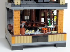 Bottom floor (tybort) Tags: lego technic gears pulley mechanism trigger differential ratchet moc hiddendoor