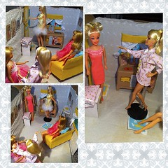 Barbie sleepover!! (fallconary615) Tags: mod doll barbie skipper pjs tnt deandra francie fashonistas uploaded:by=flickrmobile flickriosapp:filter=nofilter