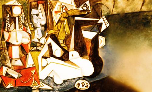 """Odaliscas (Mujeres de Argel) yuxtaposición y deconstrucción de Pablo Picasso (1955), síntesis de Roy Lichtenstein (1963). • <a style=""""font-size:0.8em;"""" href=""""http://www.flickr.com/photos/30735181@N00/8748001206/"""" target=""""_blank"""">View on Flickr</a>"""