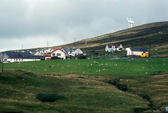 Voe + Wind turbine (1988) (Duncan+Gladys) Tags: uk scotland shetland voe
