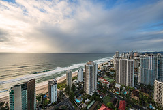 Gold coast (Chaiwat lee) Tags: ocean city travel sea vacation holiday seascape reflection tourism beach water beautiful skyline architecture buildings gold hotel coast seaside sand paradise surf day waves cityscape view apartment skyscrapers background scenic lifestyle sunny australia location calm condo shore queensland tropical destination tropic surfers leisure recreation accommodation relaxation popular picturesque luxury wealth