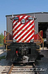 WCR 6593 (Ramblings From The 4th Concession) Tags: s3 mlw diesellocomotive waterloocentralrailway canonrebelxsi mlwlocomotives stjacobsont wcr6593 canon18135stmlens