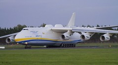 Antonov Airlines An-225 lining up at SNN (birrlad) Tags: sunset up airplane evening airport taxi aircraft aviation airplanes cargo line shannon takeoff runway airliner freighter antonov an225