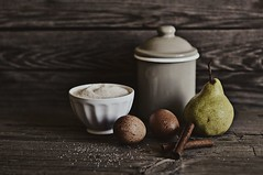 baking ... (sonja-ksu) Tags: stilllife food photography baking nikon cinnamon sugar pear eggs foodphotography foodstyling