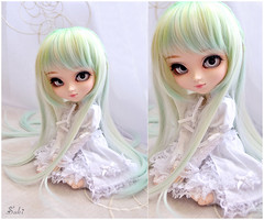 Beauty in Green~* (Suki) Tags: white green groove pullip kiyomi pullips greenfairy whiteeyes
