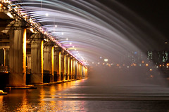 Banpo bridge |  (nihilsineDeo) Tags: bridge nightshot seoul southkorea seul   noapte  fantana  banpo arteziana  coreeadesud  podulbanpo