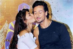 Mumbai: Bollywood actor Jacqueline Fernandes and Tiger Shroff during the trailer launch of film 'A Flying Jatt'. (legend_news) Tags: mumbai bollywood actor jacqueline fernandes tiger shroff during trailer launch film a flying jatt